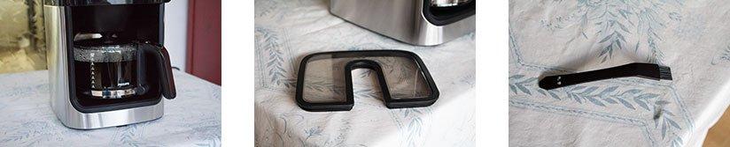 Philips HD7766/00 Glaskanne mit Kaffee, Bohnenbehälter Deckel, Reinigungspinsel
