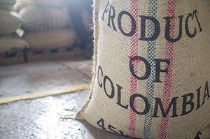 Kaffeesack mit kolumbianischen Bohnen
