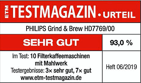 Philips Grind Brew HD7769:00 Test